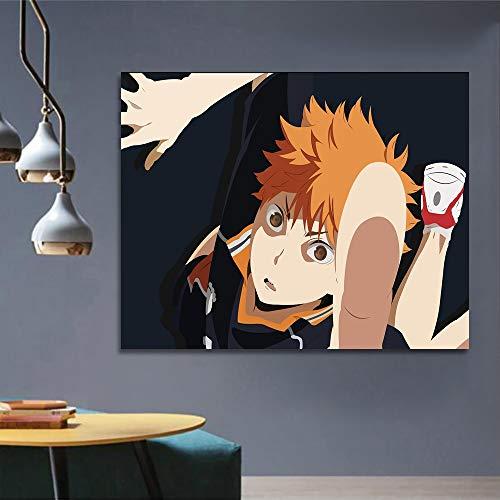 KWzEQ Pintura Mural Cartel de Arte animación Cine y televisión Estilo nórdico Lienzo Pintura Dormitorio decoración del hogar,Pintura sin Marco,30X45cm