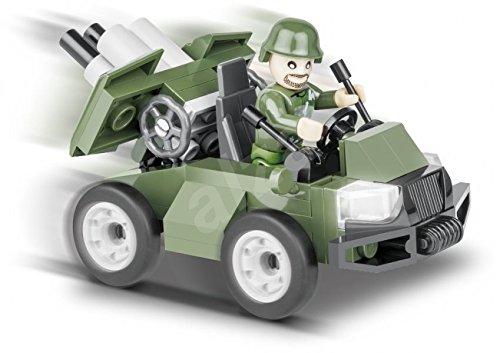 Carro Militar Batalhão com 60 Peças Cobi Blocos De Montar Verde