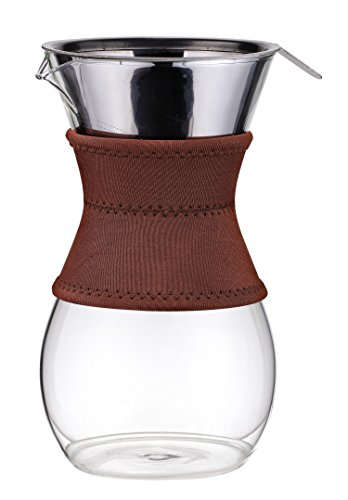 Osaka Pour-Over Drip Brewer, 6 Cup (27 oz) Glass Carafe with Permanent Stainless Steel Filter Itsukushima by Osaka