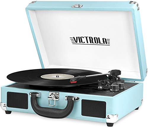 Victrola Vintage 3-Speed Bluetooth Portable Suitcase Record Player with Built-in Speakers | Upgraded...