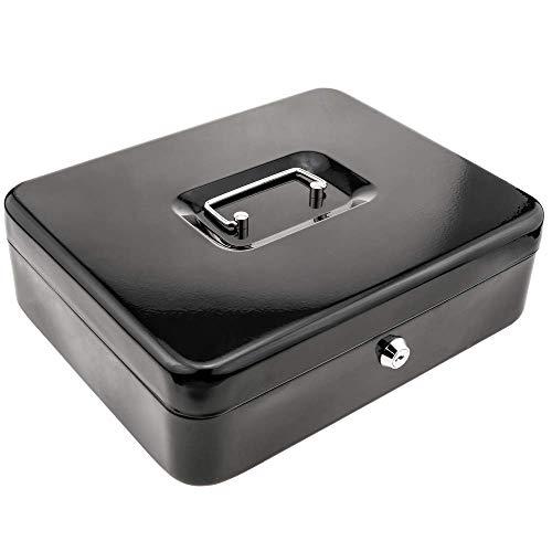 PrimeMatik - Caja Fuerte portátil para Dinero caudales Billetes y Monedas 298 x 239 x 88 mm