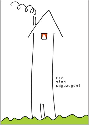 Helga Bühler in 5-delige set: Of het nu thuis is of huurt, laat met deze kaart uw verhuizing aan: wij zijn verhuisd
