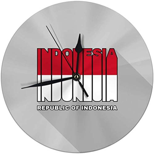 Wanduhr Dekorative Wanduhr Große Indonesien Flagge Vintage Wanduhr