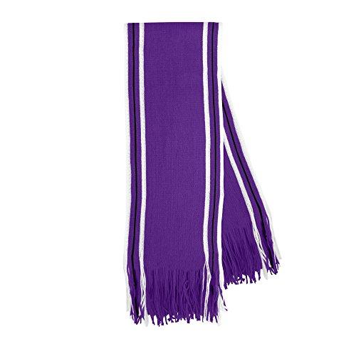 Littlearth Fransenschal, gestreift, Hellrot, Unisex, Stripe Fransenschal, violett, X00637-BLANK-PURP, violett, 70-inches by 8-inches