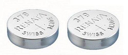 Single de Renata reloj batería Suizo hizo Renata 379 o SR521SW o AG0 1.5V (10 x 379 or SR 521 SW)