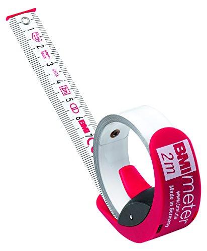 BMI 429351021 Taschenbandmaß Meter 3m in rot/SB-Verpackung, weiß