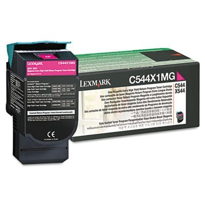 Lexmark C544X1MG Extra High Yield Magenta Toner, 4000 Page Yield, Sold As 2 Each