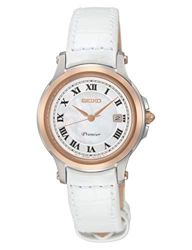 SEIKO Damen Analog Quarz Uhr mit Leder Armband SXDE42P2