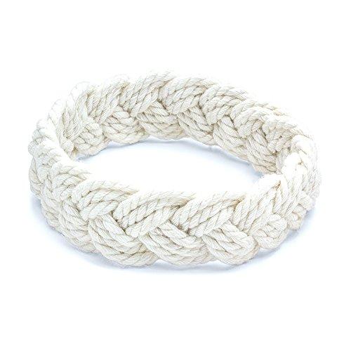 World End Imports White Cotton Sailor Knot Bracelet (Small)