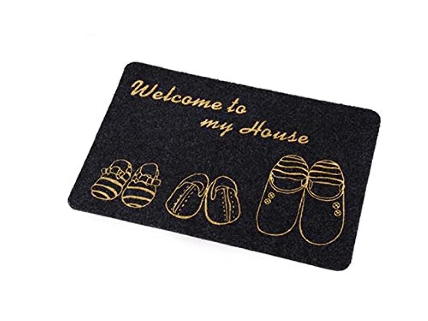 宅配便アブストラクトペチュランスOside ホームウェルカムエントリー玄関寝室ラグラグバスマットベッドルームリビングルーム(ブラックグレー)