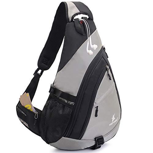 JSDing Sling Rucksack Herren Damen | Brusttasche Sling Bag Sport Grosse Kapazität 14