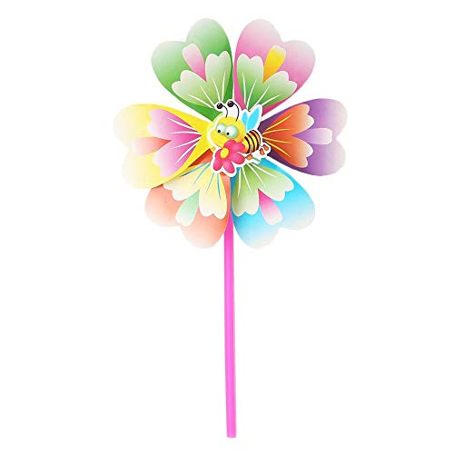 Uteruik Pinwheel Windmolen Decoraties Party Tuin, Wind Wheel Duif Vogel Scarer Deter Mollen, 1 stk, ABT#4