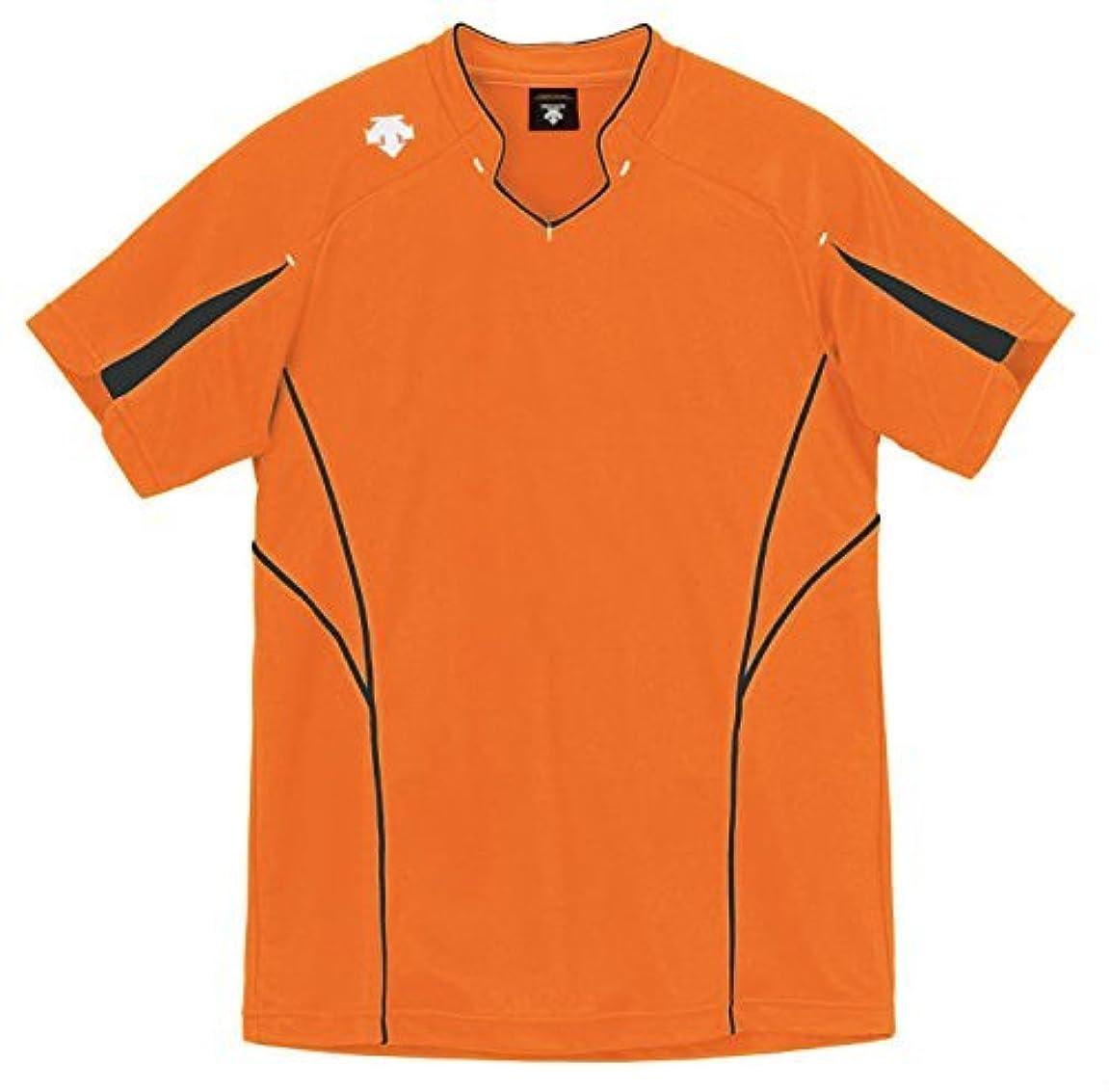セント復活マスタード(デサント) DESCENTE バレーボール 半袖ゲームシャツ DSS-4822 (FORG Fオレンジxチャコール, 140)