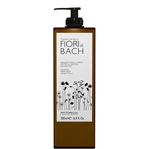 Phytorelax Baume de douche pour le corps aux fleurs de Bach, relaxant, 1 flacon de 500 ml