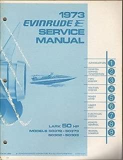 1973 EVINRUDE OUTBOARD LARK 50 HP P/N 4908 SERVICE MANUAL (649)