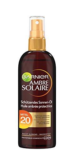Garnier Ambre Solaire Sonnen-Öl Spray LSF 20, 3er Pack (3 x 150 ml)