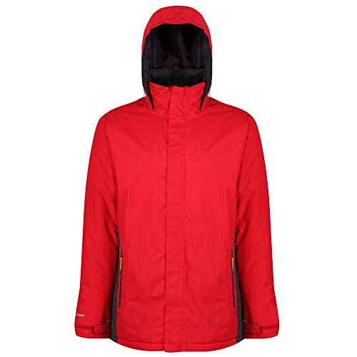 Regatta Thornridge Waterproof Insulated Hooded, Veste Homme, Multicolore (Rouge / noir), Small