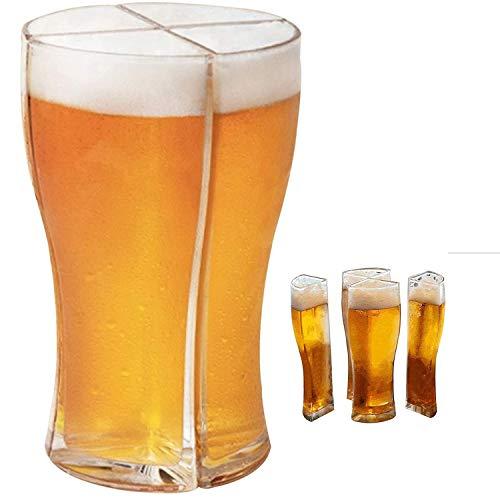GY-Lmap Jarra de Cerveza 4 en 1, 400-500 Ml Jarras de Cerveza Reutilizables Taza de Pinta Grande Jarra para Beber Recipiente de Cerveza para El Hogar Fiesta de Cumpleaños Accesorios