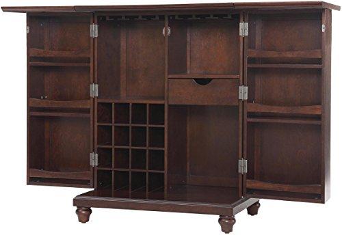 Hot Sale Crosley Furniture Cambridge Expandable Bar Cabinet in Vintage Mahogany Finish