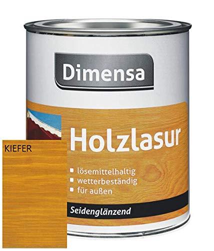 DIMENSA Holzlasur   Wetterschutzlasur   Holzschutzlasur   Premium Qualität   Außen   Aromatenfrei   0,75l - Kiefer