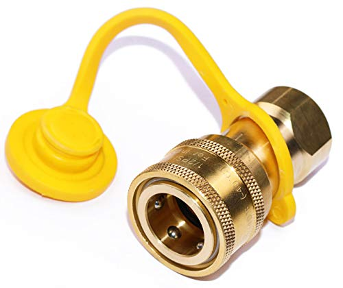 DOZYANT 1/2' QDD LP Gas Quick Connect Disconnect Connector Solid Brass 1/2 PSIG Pressure 100000 BTU Hour Capacity Input 1/2 Insert