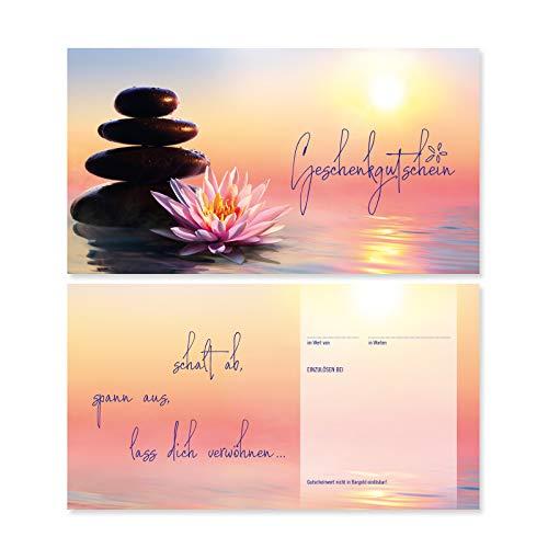 10 Gutscheinkarten Geschenkgutscheine. Gutscheine für Massage Wellness Spa Kosmetik Kosmetikstudio. KS1291 geschenkgutschein gmbh