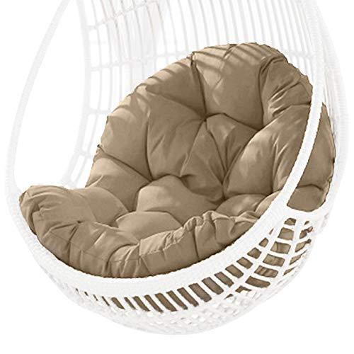 HUANRU Swing Hanging Basket - Cojín para silla de jardín (impermeable, grueso, 90 x 120 cm), diseño de huevo colgante, multicolor