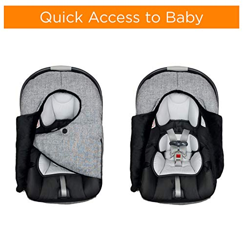liuliuby Infant Car Seat Cover - Weatherproof Bunting Bag