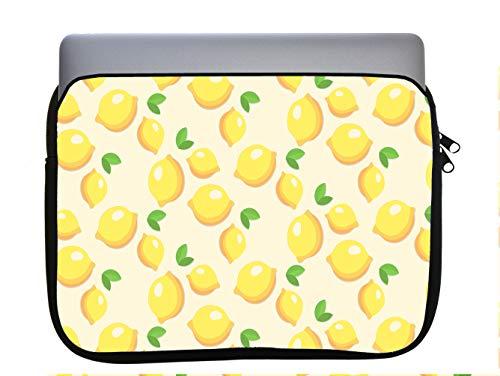 Lemon Lemon Lemons and More Lemons Pattern 11x14 inch Neoprene Zippered Laptop Sleeve Bag by Moonlight4225 for MacBook or Any Other Laptop