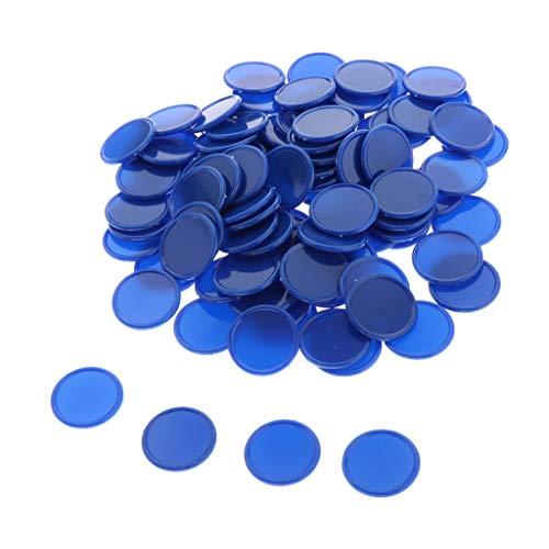 perfeclan 100x Gettoni in Plastica 25mm Gettoni da Gioco per Casinò, Gettoni da Gioco, Gettoni Gialli - Blu
