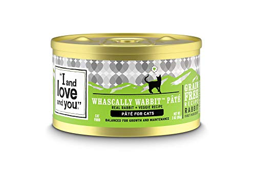 'I and love and you' Naked Essentials Canned Wet Cat Food - Grain Free, Rabbit Recipe, 3-Ounce, Pack of 24 Cans