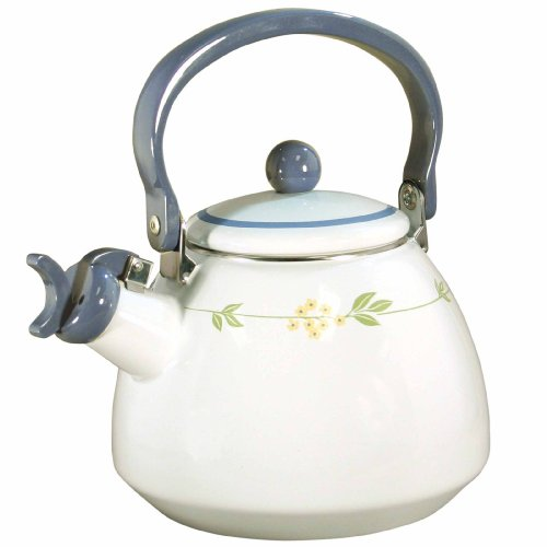 Corelle Coordinates by Reston Lloyd Harmonic Hum Whistling Teakettle, 2.2 Quart, Secret Garden