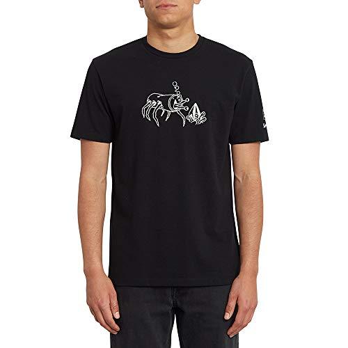 Volcom S. Zubizarreta FA SS Camiseta, Hombre, Black, XS