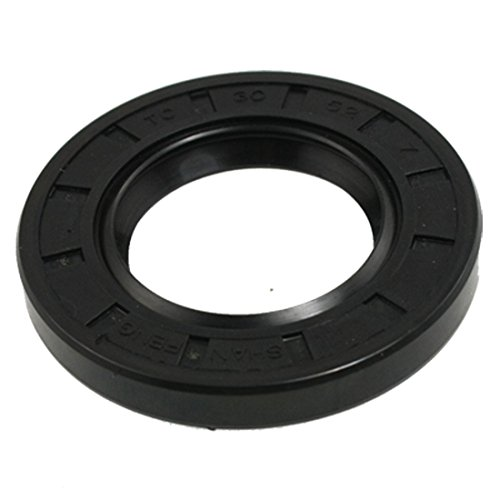 uxcell SealOil Spring Loaded Metric Rotary Shaft TC Double Lip Black