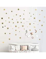 60 Pcs Pegatinas de Pared Estrella Espejo de Acrílico Adhesivos 3 Tamaños DIY Decoración Hogar para Sala de Estar Habitación Armario Pared de Dormitorio (Plateado)