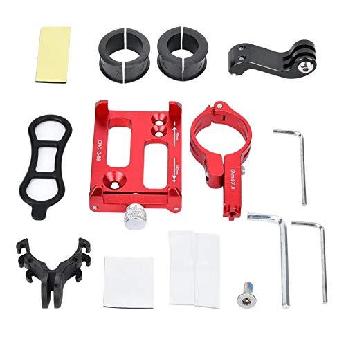 Soporte para teléfono móvil para Bicicleta -GUB Bicicleta de montaña Motocicleta Soporte para cámara para teléfono móvil Soporte de Montaje Accesorio para Ciclismo(Rojo)