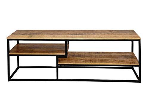 casamia TV Lowboard TV Bord 150 x 53 x 35 cm Liverpool struttura in metallo nero opaco