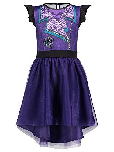 Disney Descendants Mal Big Girls Costume Dress 6/6X Purple
