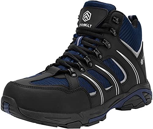DKMILY DRY Scarpe Antinfortunistiche Uomo, Stivali S3 SRC WR Scarpe da Lavoro Anti Puntura Scarpe da Passeggio(Nero Blu,42)