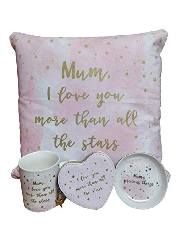 Cesta de regalo de cumpleaños para mamá con 4 artículos, idea de regalo para el Día de la Madre