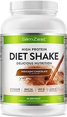 Diet Shakes - Meal Replacement Shakes - High in Protein - Stay Fuller for Longer - 27 Essential Vitamins and Mineral - Low Calorie - Low Sugar Delicious Smooth Thick Shakes - for Men and Women by SlimZest