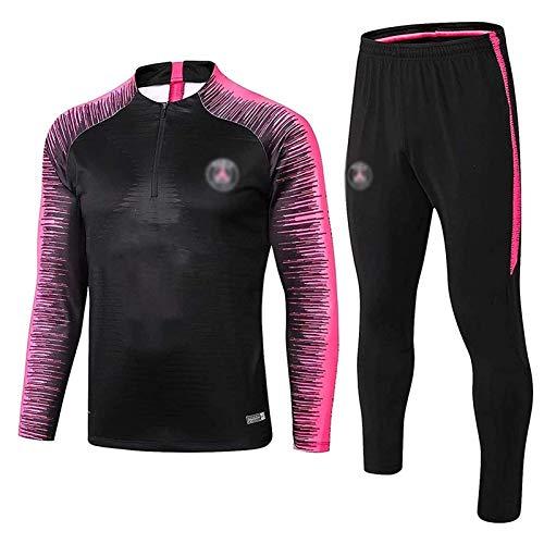 Gylilai Pariser Langarm-Sportbekleidung, Fußball-Sweatshirt für Männer des European Football Club, Langarm-Sporttrainingsuniform für Frühling und Herbst (Color : Pink, Size : S)