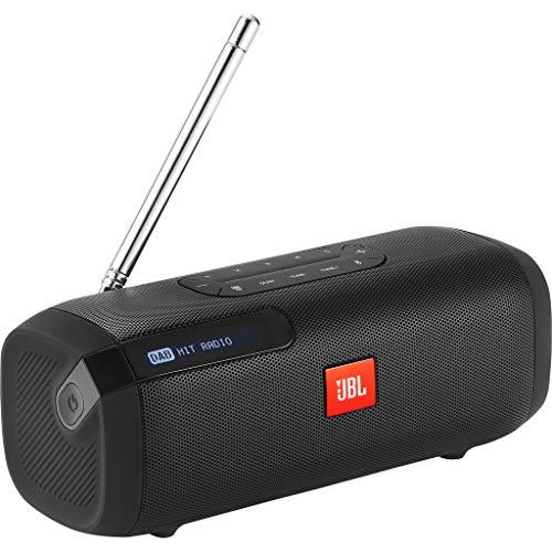 JBL Tuner Radiorekorder, draagbare Bluetooth luidspreker met DAB+ en FM-radio, MP3-geschikte muziekbox, tot 8 uur draadloze digitale radio, zwart