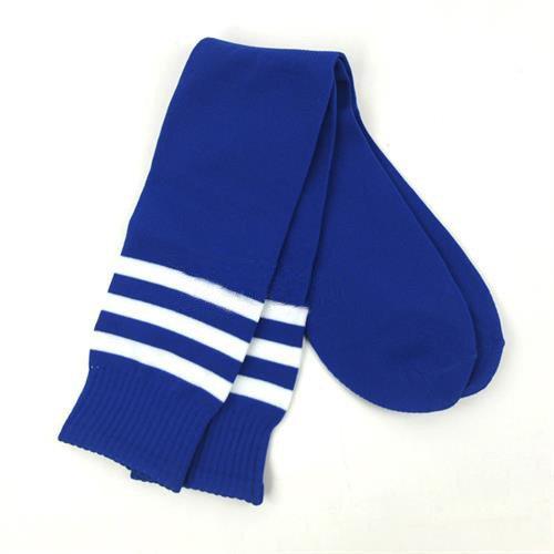 jsadfojas - Calcetines de fútbol para Mujer, diseño de Rayas, hasta la Rodilla