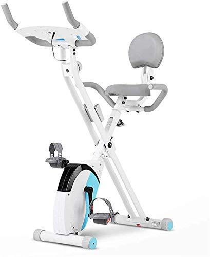 Bicicleta de ejercicio plegable para interiores y exteriores, equipo de extracción, bicicleta estacionaria, bicicleta estática reclinable, con soporte para teléfono y tableta.