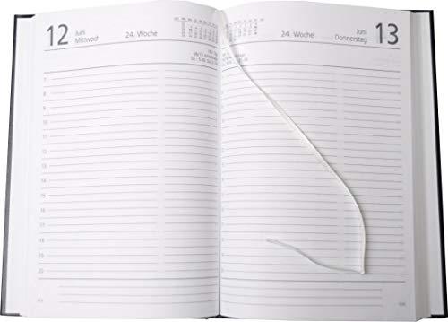 Zettler Buchkalender 15x21cm 1 Tag auf 1 Seite schwarz Kalendarium 2015
