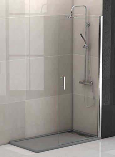 Mampara ducha hoja abatible cromo-vidrio BERLIN 90, alto 195 cm. QUEBAÑOS