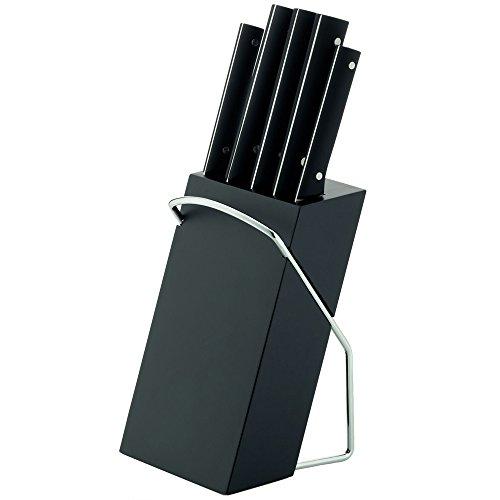 kela Messerblock Delft Holz schwarz 12x13x33cm, 12x13x33 cm