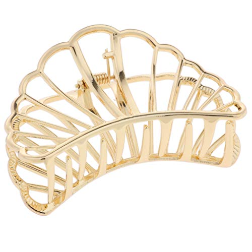 KESOTO Damen Haarkrebs Haarklammer Haarspange Claw Clips Kopfschmuck - Gold