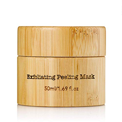 Organic Exfoliating Peeling Mask with Hemp Seed Oil & Red Algae   ECOCERT Certified   Anti Aging Wrinkle and Fine Lines…